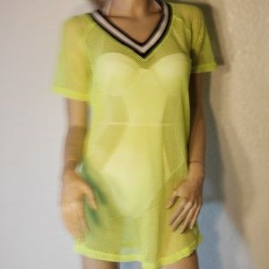 swim cover up green mesh various sizes